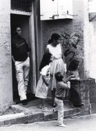 Family observing, Eveleigh Street (The Block), Redfern, Stop Black Deaths in Custody Rally, September 1985