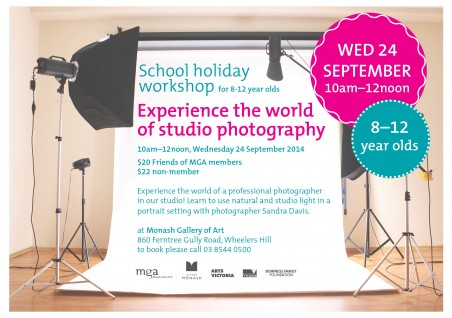 School holiday workshop | Experience the world of studio photography | 8-12 year olds
