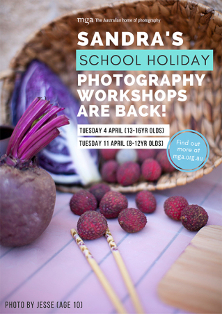 School Holiday photography workshop (8-12yr olds) with Sandra Davis
